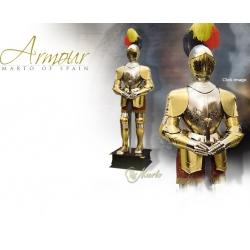 Rytířská Zbroj-Zlatá Renesanční Zbroj