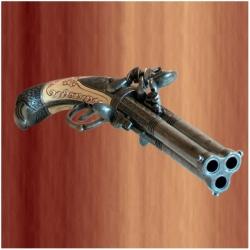 3 hlavňová pistole Augsburg 1775