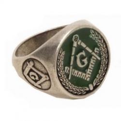 Zednářský Prsten Zelený