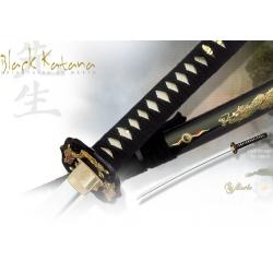 Katana Černá s Drakem Marto Samurajský Meč