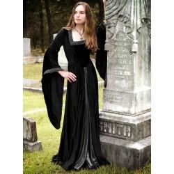 Gotické Šaty Černé