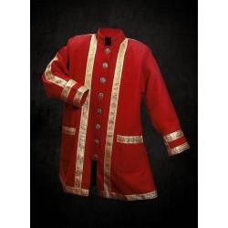 Kabát Vojenský Barokní Červený