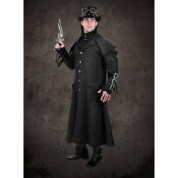 Kabát Steampunk Black Ulster