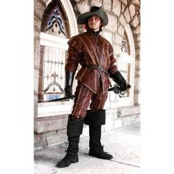 Kabát Renesance Kožený Mušketýr