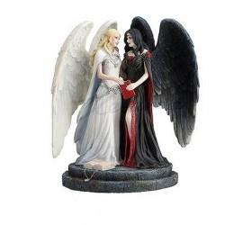 Bílý a temný anděl soška