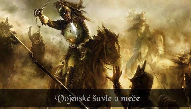 Vojenské šavle a meče