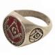 Zednářský Prsten Červený