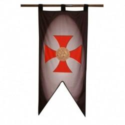Prapor Templáři Kříž a Pečeť