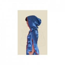 Fantasy Šaty Modré s Kápí
