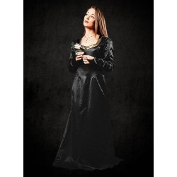 Fantasy Šaty Černé Satén