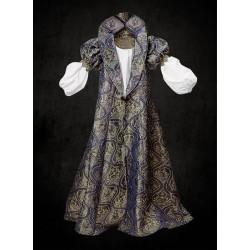 Alžbětínské Šaty Modrozlaté