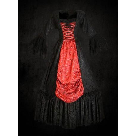 Renesanční Šaty Black and Red