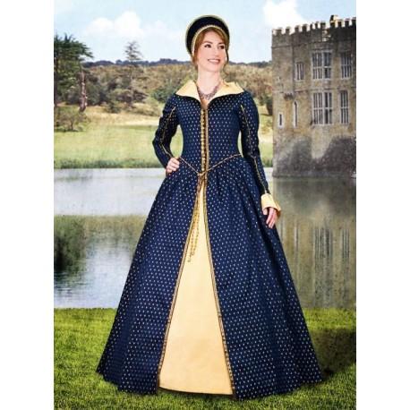 Renesanční Šaty Dvorské Modré