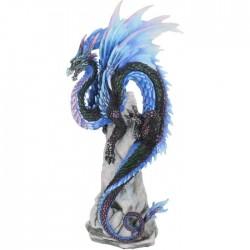 Safírový drak soška