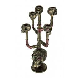 Svícen lebek Steampunk soška
