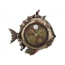 Mechanická ryba hodiny Steampunk soška