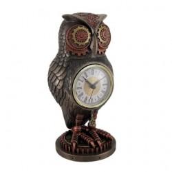 Steampunk mechanická sova hodiny