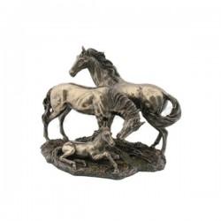 Koňská rodina soška