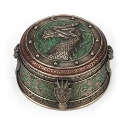 Keltská šperkovnice s drakem