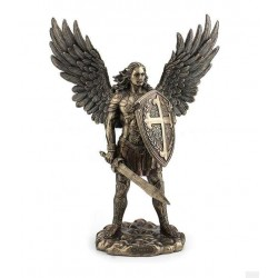 Archanděl Michael soška meč a šťít