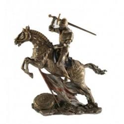Rytíř na koni s mečem soška